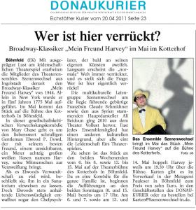 Theatergruppe Szenenwechsel Donaukurier 20.04.2011 Mein Freund Harvey