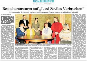 Theatergruppe Szenenwechsel Donaukurier 09.05.2012 Lord Arthur Saviles Verbrechenwww.donaukurier.de