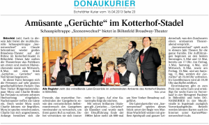 Theatergruppe Szenenwechsel Donaukurier 16.04.2013 Gerüchte, Gerüchtewww.donaukurier.de