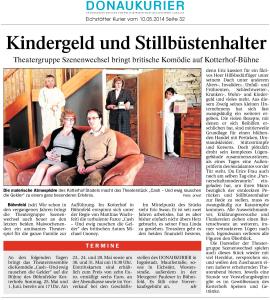 Theatergruppe Szenenwechsel Donaukurier 10.05.2014 Cashwww.donaukurier.de