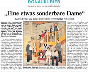 Theatergruppe Szenenwechsel Donaukurier 23.04.2015 Eine sonderbare Damewww.donaukurier.de
