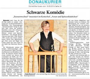 Theatergruppe Szenenwechsel Donaukurier Eichstätt 18.05.2016 Arsen und Spitzenhäubchenwww.donaukurier.de