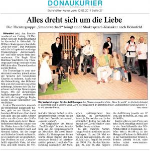 Theatergruppe Szenenwechsel Donaukurier Eichstätt 13.05.2017 Was ihr wolltwww.donaukurier.de